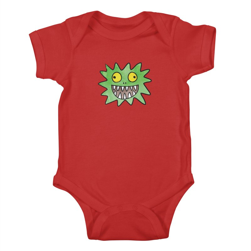 Smiley-Face - Monster Kids Baby Bodysuit by Puttyhead's Artist Shop