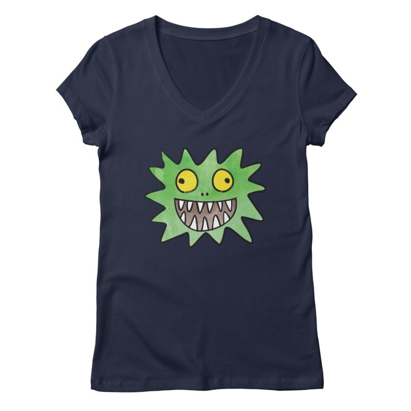 Smiley-Face - Monster Women's V-Neck by Puttyhead's Artist Shop