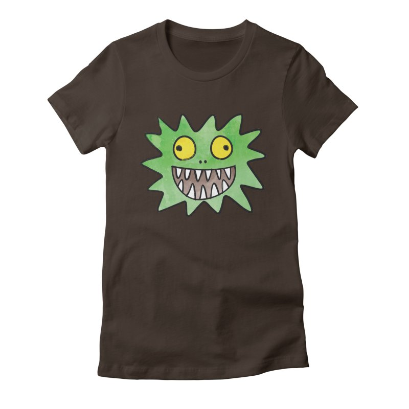 Smiley-Face - Monster Women's Fitted T-Shirt by Puttyhead's Artist Shop