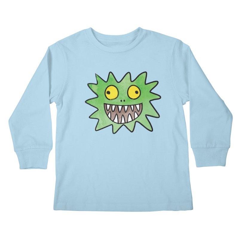 Smiley-Face - Monster Kids Longsleeve T-Shirt by Puttyhead's Artist Shop