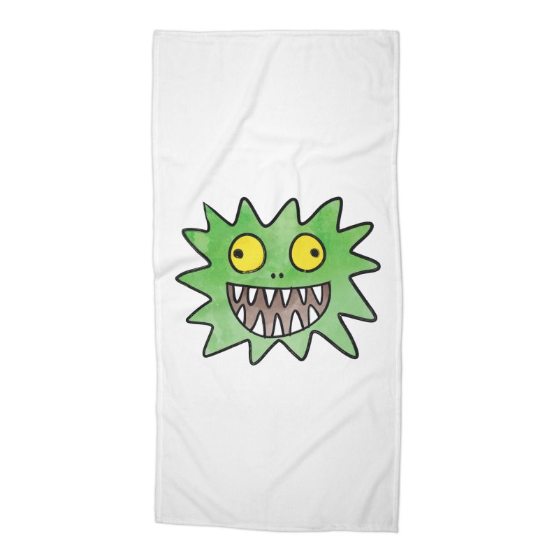 Smiley-Face - Monster Accessories Beach Towel by Puttyhead's Artist Shop