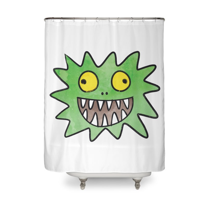 Smiley-Face - Monster Home Shower Curtain by Puttyhead's Artist Shop