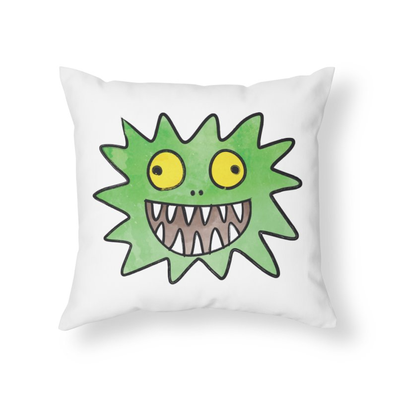 Smiley-Face - Monster Home Throw Pillow by Puttyhead's Artist Shop