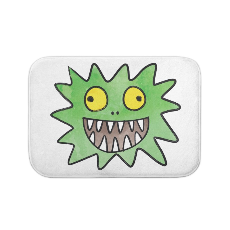 Smiley-Face - Monster Home Bath Mat by Puttyhead's Artist Shop
