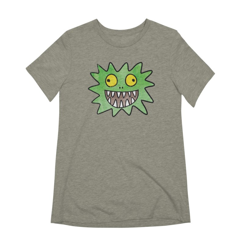 Smiley-Face - Monster Women's Extra Soft T-Shirt by Puttyhead's Artist Shop