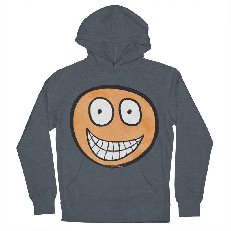 Smiley-Face - Orange Women's Pullover Hoody by Puttyhead's Artist Shop