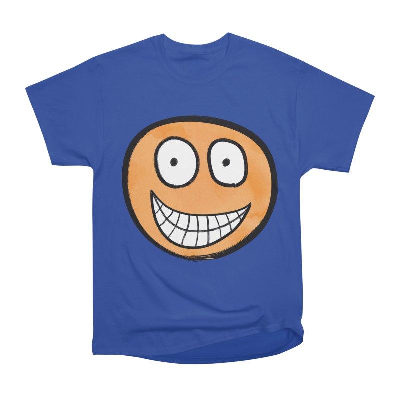 Smiley-Face - Orange Women's Classic Unisex T-Shirt by Puttyhead's Artist Shop