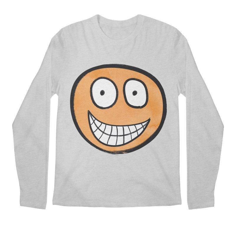 Smiley-Face - Orange Men's Longsleeve T-Shirt by Puttyhead's Artist Shop