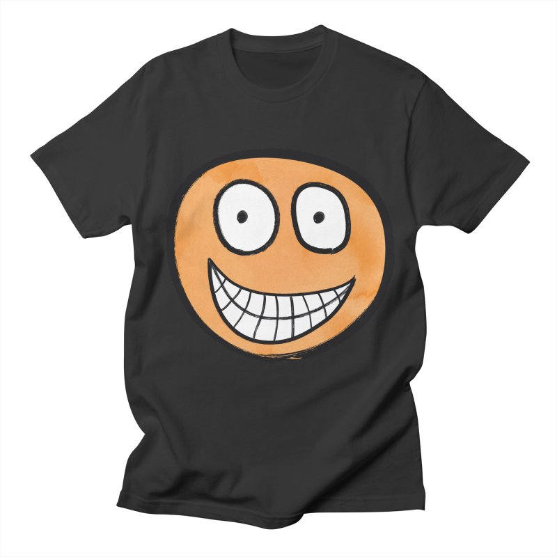 Smiley-Face - Orange Women's Unisex T-Shirt by Puttyhead's Artist Shop