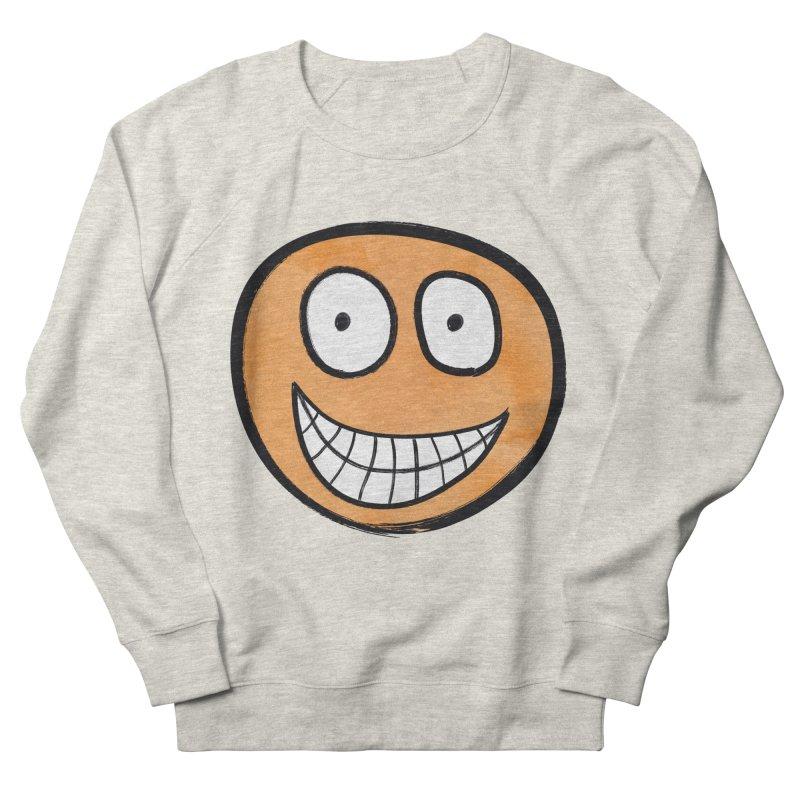 Smiley-Face - Orange Women's Sweatshirt by Puttyhead's Artist Shop