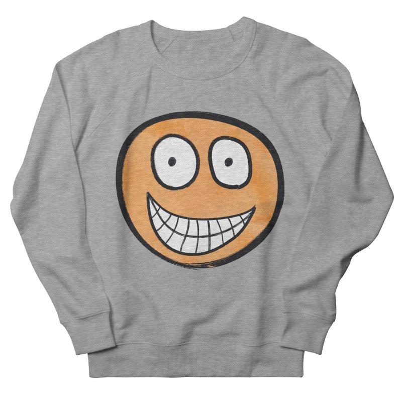 Smiley-Face - Orange Men's Sweatshirt by Puttyhead's Artist Shop