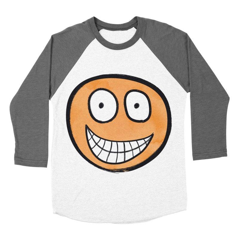 Smiley-Face - Orange Women's Baseball Triblend T-Shirt by Puttyhead's Artist Shop