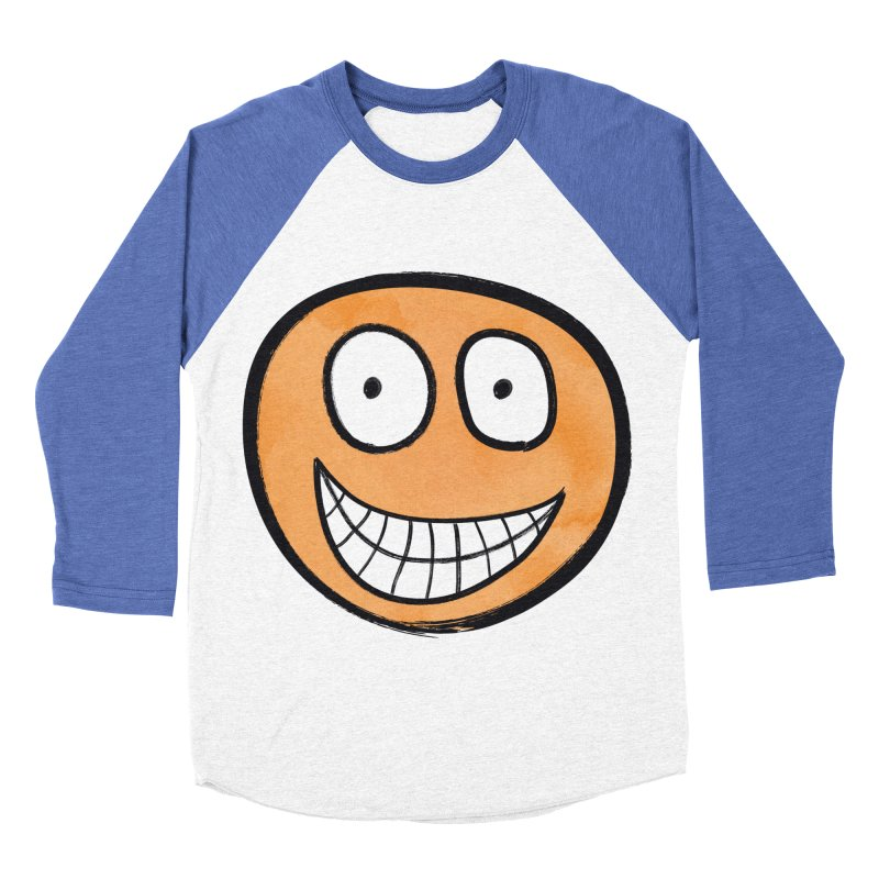 Smiley-Face - Orange Men's Baseball Triblend T-Shirt by Puttyhead's Artist Shop