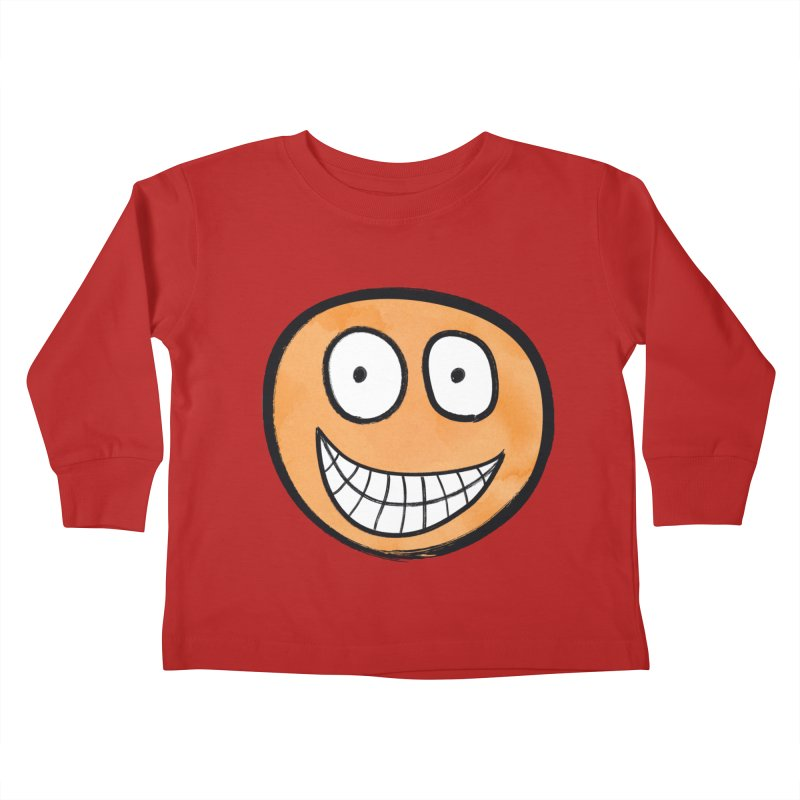 Smiley-Face - Orange Kids Toddler Longsleeve T-Shirt by Puttyhead's Artist Shop