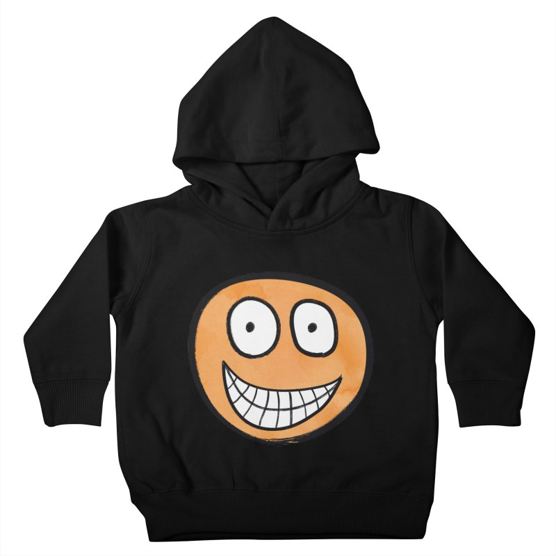 Smiley-Face - Orange Kids Toddler Pullover Hoody by Puttyhead's Artist Shop