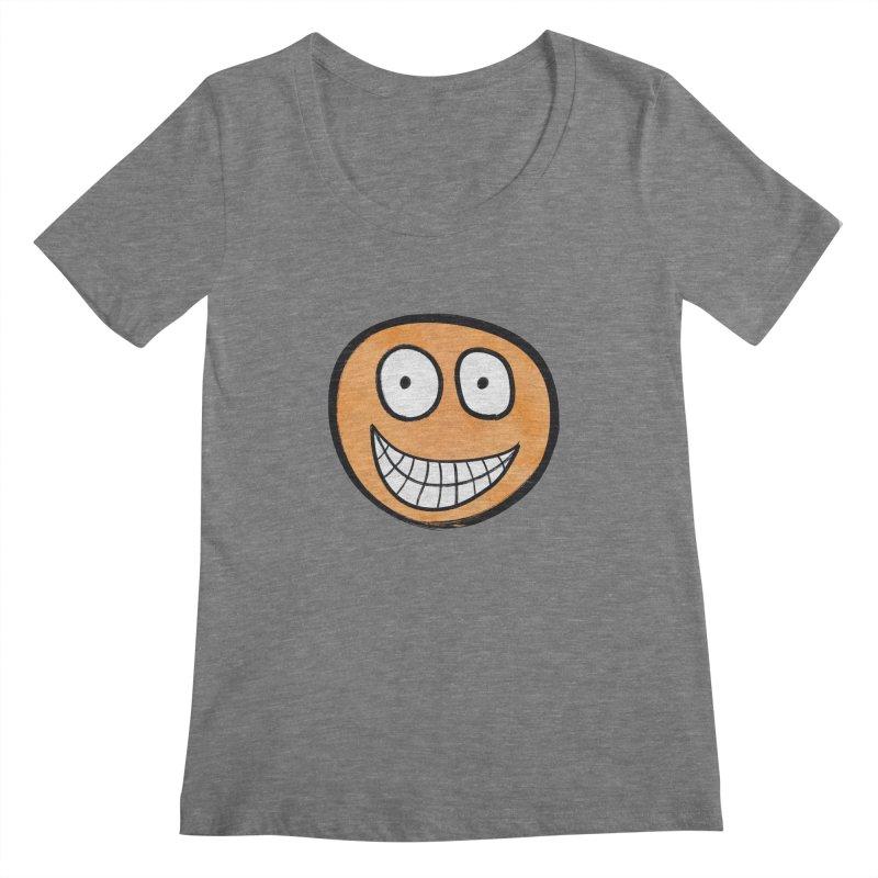 Smiley-Face - Orange Women's Scoopneck by Puttyhead's Artist Shop