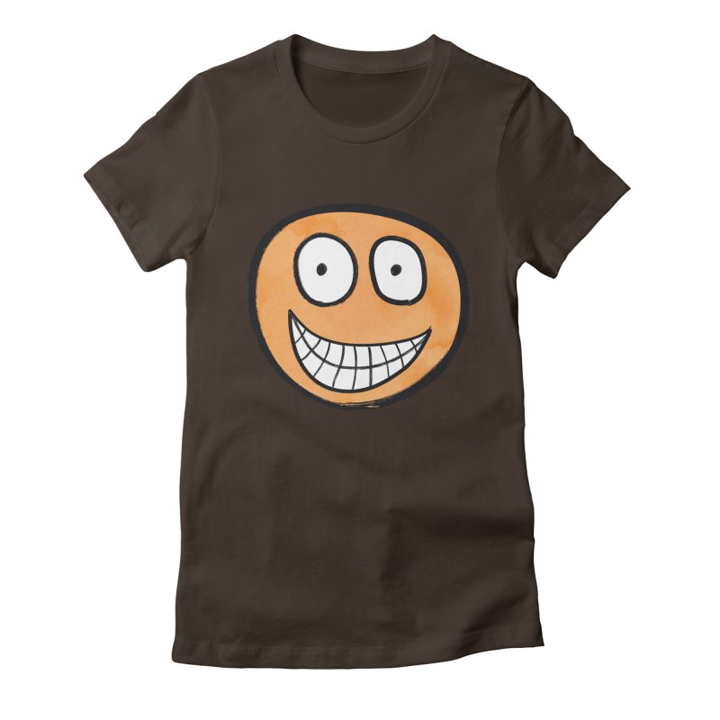 Smiley-Face - Orange Women's Fitted T-Shirt by Puttyhead's Artist Shop