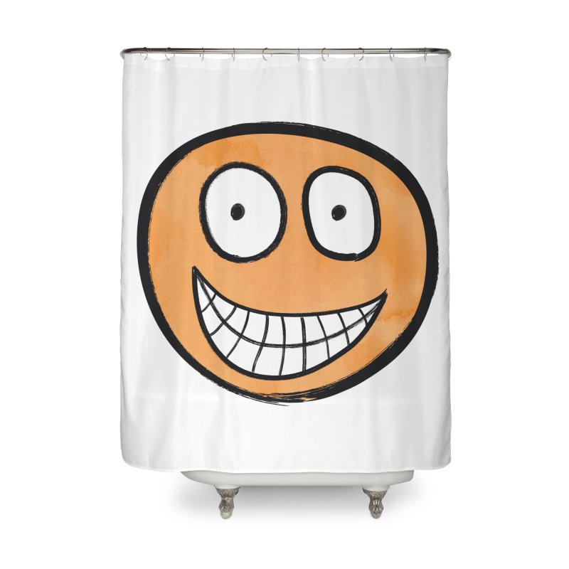 Smiley-Face - Orange Home Shower Curtain by Puttyhead's Artist Shop