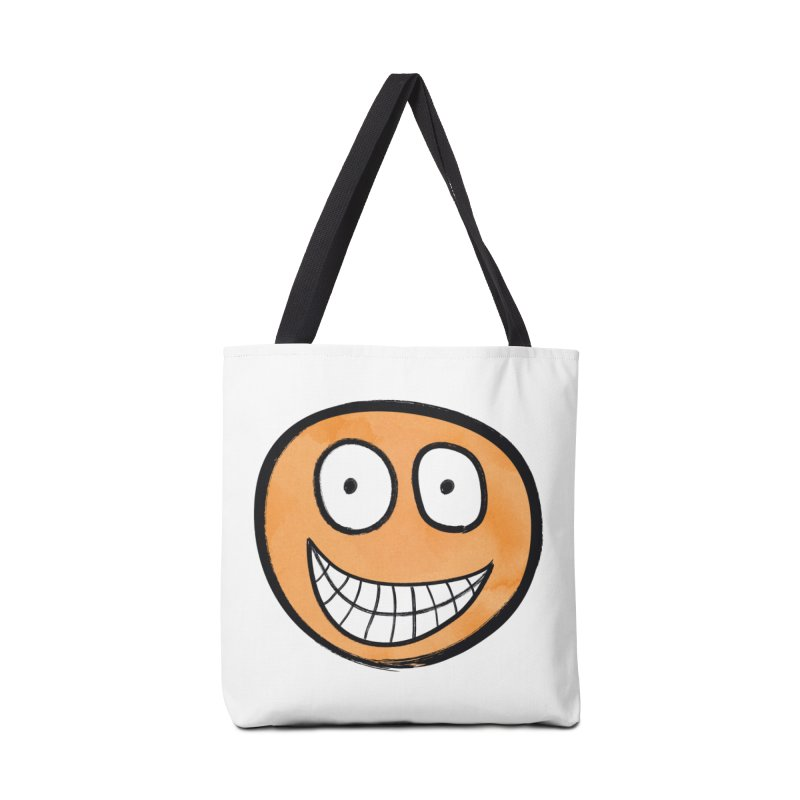 Smiley-Face - Orange Accessories Bag by Puttyhead's Artist Shop