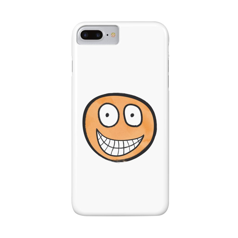 Smiley-Face - Orange Accessories Phone Case by Puttyhead's Artist Shop