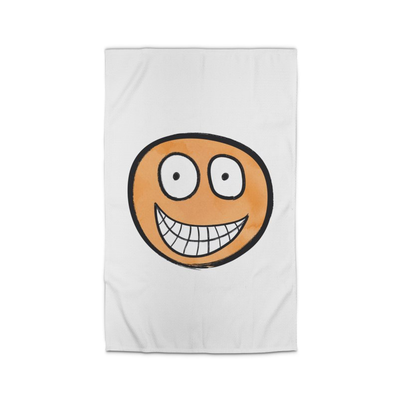 Smiley-Face - Orange Home Rug by Puttyhead's Artist Shop