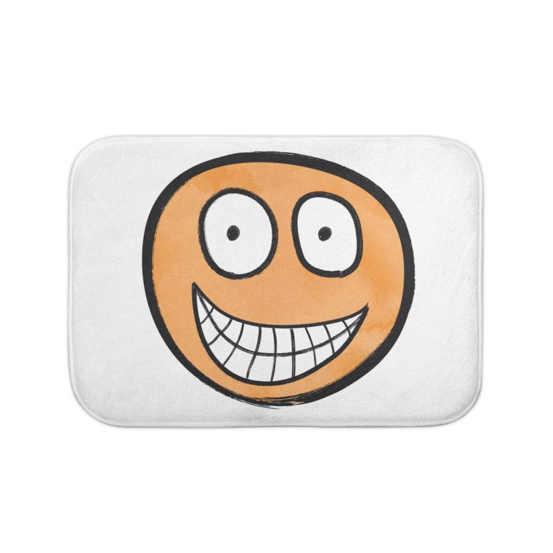 Smiley-Face - Orange Home Bath Mat by Puttyhead's Artist Shop