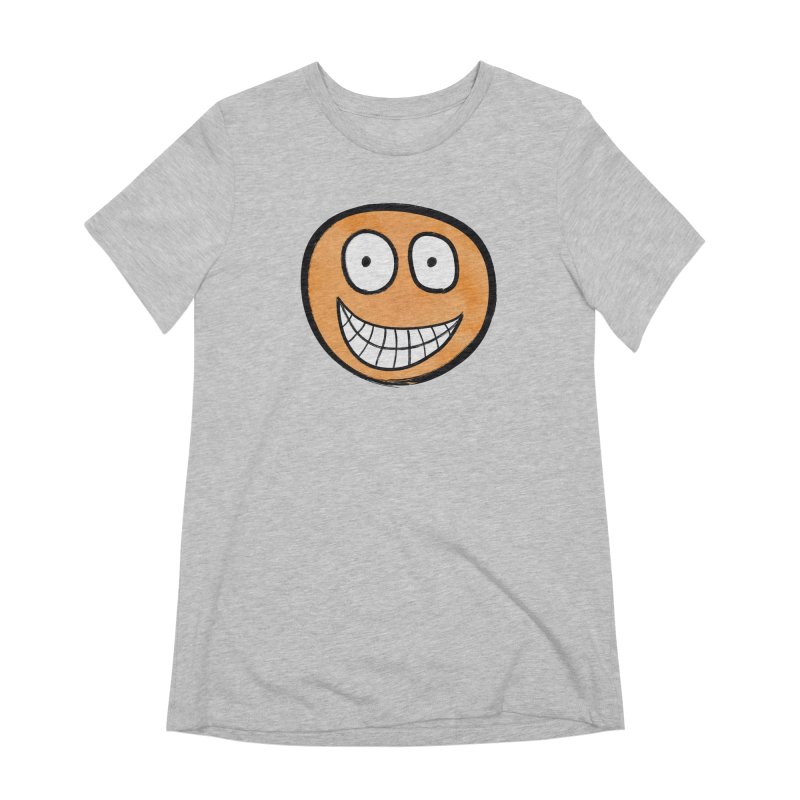 Smiley-Face - Orange Women's Extra Soft T-Shirt by Puttyhead's Artist Shop