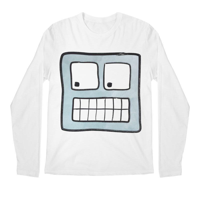 Smiley-Face - Robot Men's Longsleeve T-Shirt by Puttyhead's Artist Shop