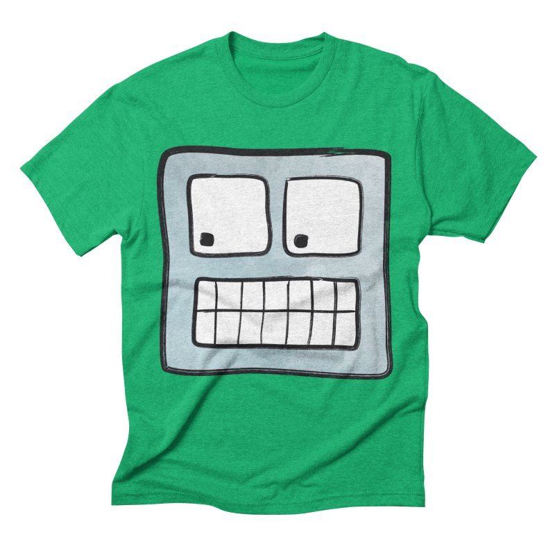 Smiley-Face - Robot Men's Triblend T-shirt by Puttyhead's Artist Shop
