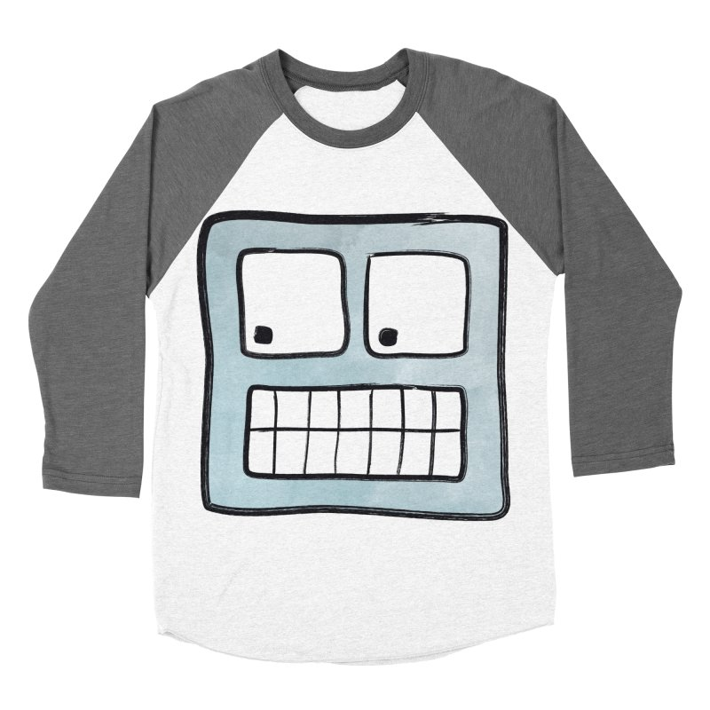 Smiley-Face - Robot Women's Baseball Triblend T-Shirt by Puttyhead's Artist Shop