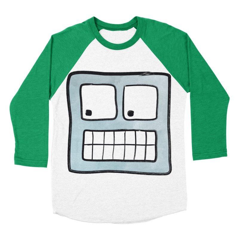 Smiley-Face - Robot Men's Baseball Triblend T-Shirt by Puttyhead's Artist Shop