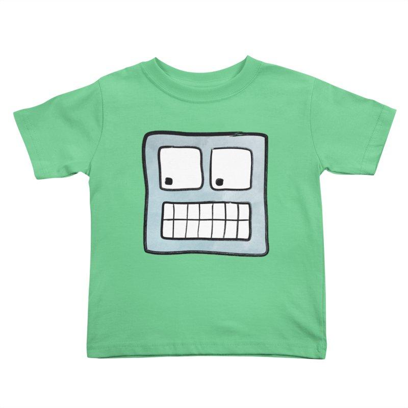 Smiley-Face - Robot Kids Toddler T-Shirt by Puttyhead's Artist Shop