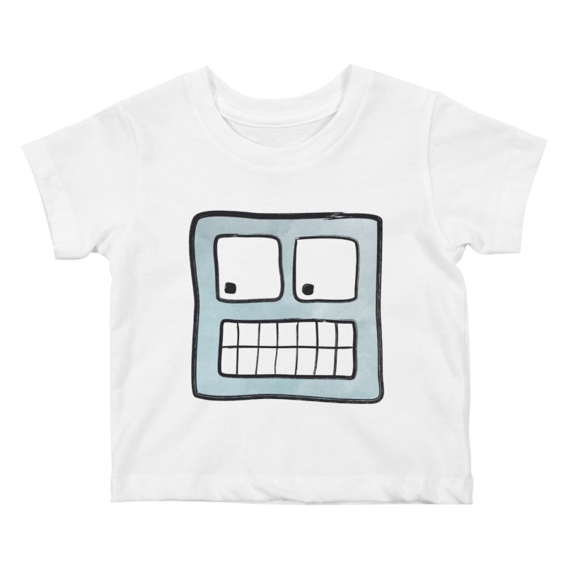 Smiley-Face - Robot Kids Baby T-Shirt by Puttyhead's Artist Shop