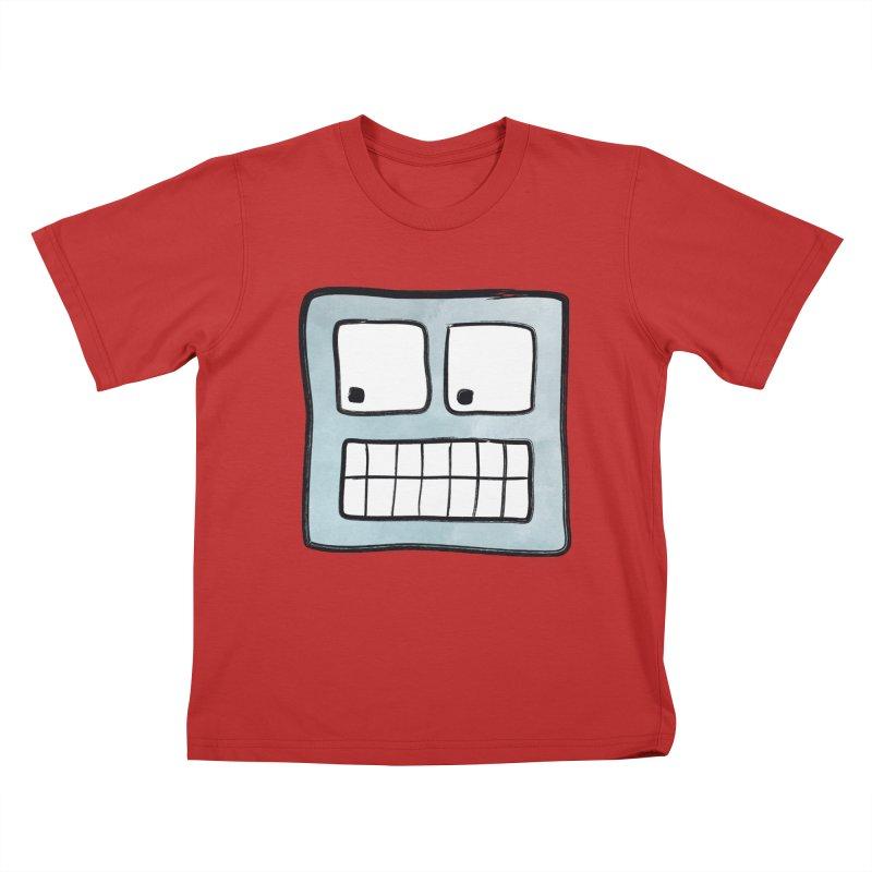 Smiley-Face - Robot Kids T-Shirt by Puttyhead's Artist Shop