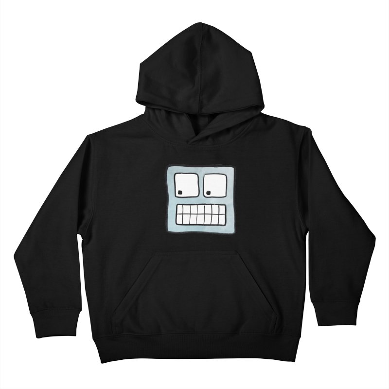 Smiley-Face - Robot Kids Pullover Hoody by Puttyhead's Artist Shop
