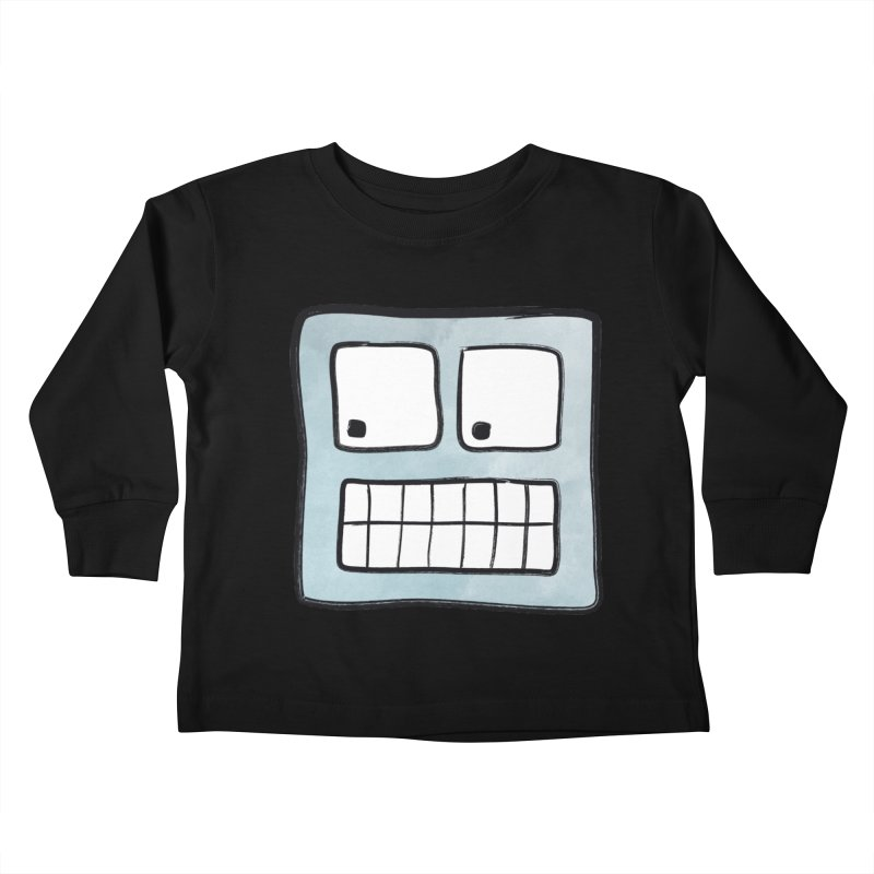 Smiley-Face - Robot Kids Toddler Longsleeve T-Shirt by Puttyhead's Artist Shop