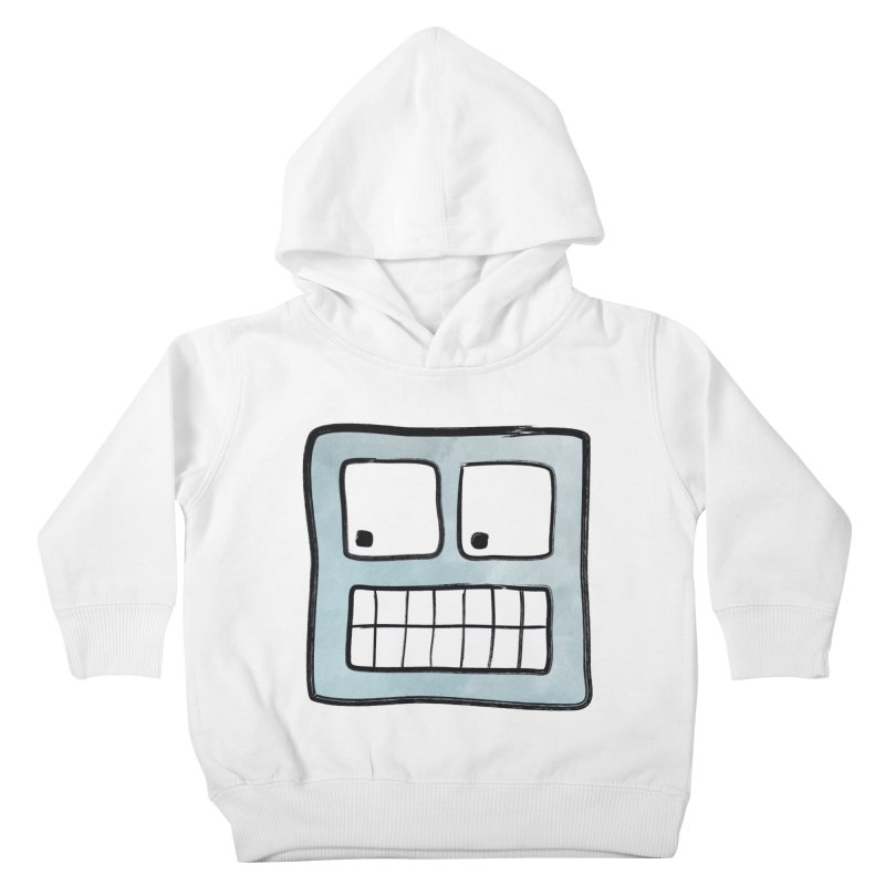 Smiley-Face - Robot Kids Toddler Pullover Hoody by Puttyhead's Artist Shop