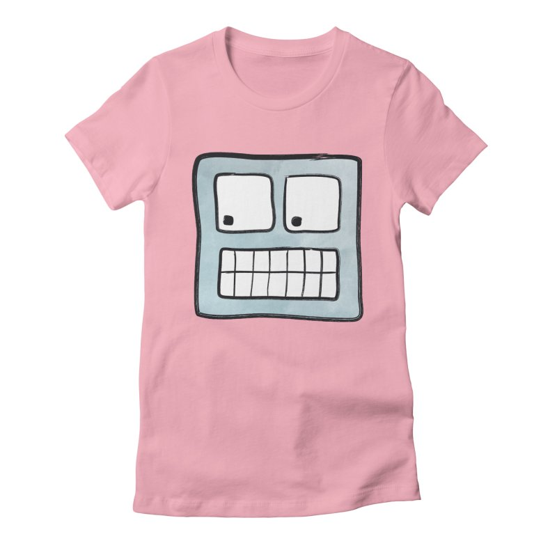 Smiley-Face - Robot Women's Fitted T-Shirt by Puttyhead's Artist Shop