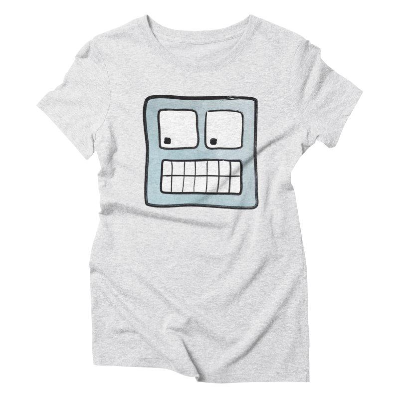 Smiley-Face - Robot Women's Triblend T-Shirt by Puttyhead's Artist Shop