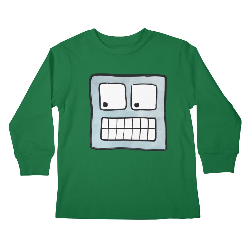 Smiley-Face - Robot Kids Longsleeve T-Shirt by Puttyhead's Artist Shop