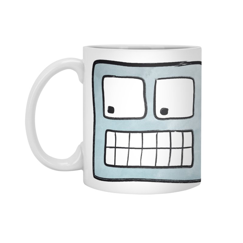 Smiley-Face - Robot Accessories Mug by Puttyhead's Artist Shop