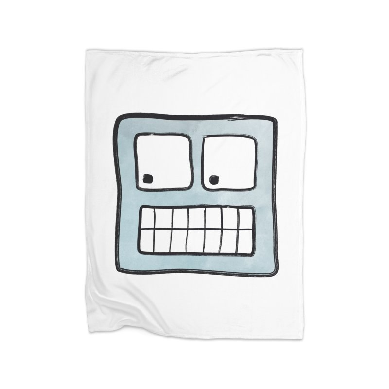 Smiley-Face - Robot Home Blanket by Puttyhead's Artist Shop