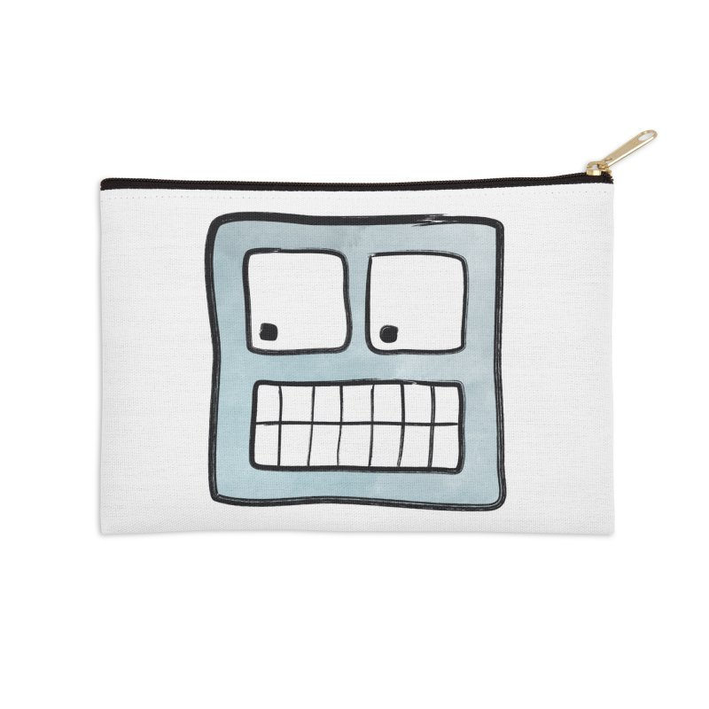 Smiley-Face - Robot Accessories Zip Pouch by Puttyhead's Artist Shop