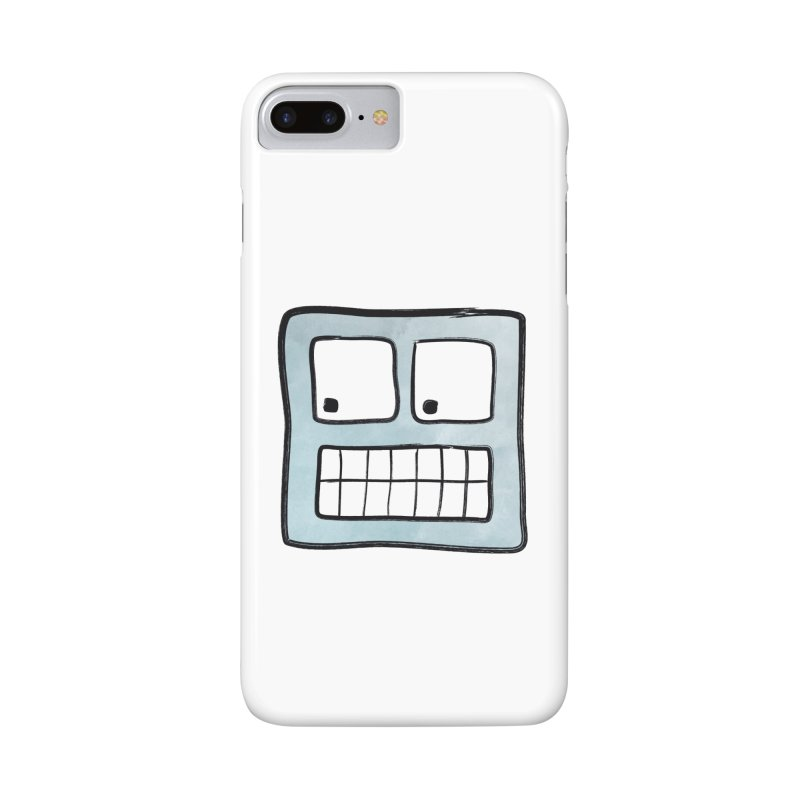 Smiley-Face - Robot Accessories Phone Case by Puttyhead's Artist Shop