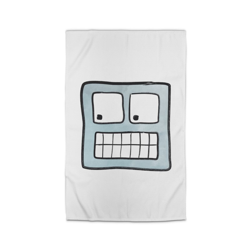 Smiley-Face - Robot Home Rug by Puttyhead's Artist Shop