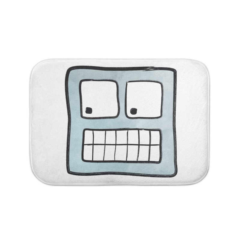 Smiley-Face - Robot Home Bath Mat by Puttyhead's Artist Shop