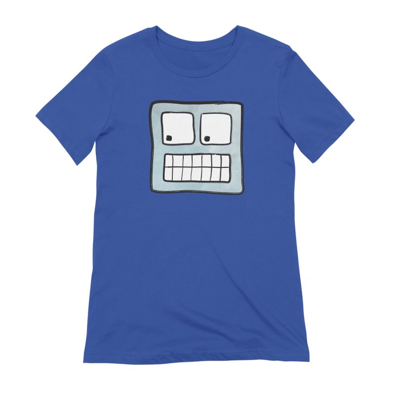 Smiley-Face - Robot Women's Extra Soft T-Shirt by Puttyhead's Artist Shop
