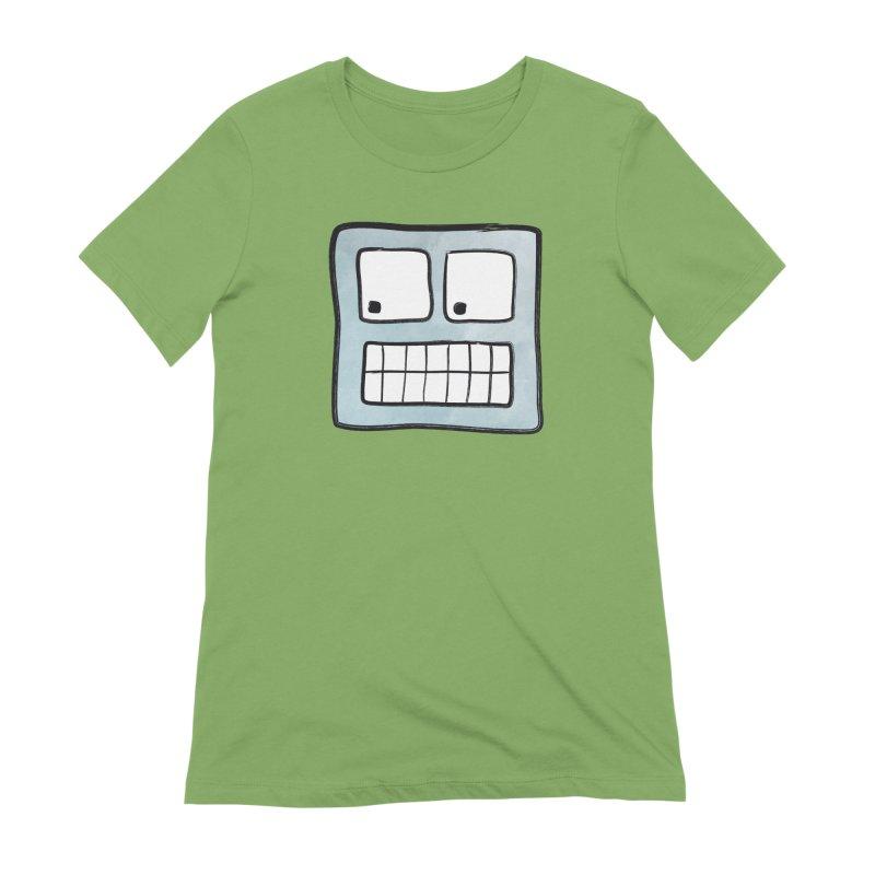 Smiley-Face - Robot Women's Extra Soft T-Shirt by Puttyhead's Artist Shop
