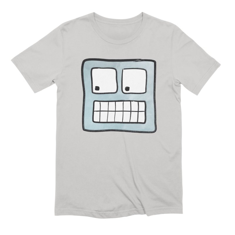 Smiley-Face - Robot Men's Extra Soft T-Shirt by Puttyhead's Artist Shop
