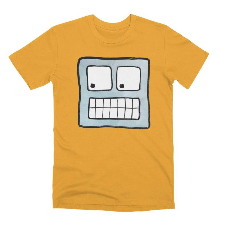Smiley-Face - Robot Men's Premium T-Shirt by Puttyhead's Artist Shop